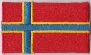 Orkney Islands Embroidered Flag Patch, style 04